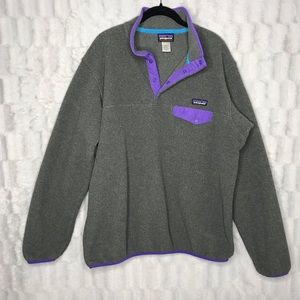 Patagonia Synchilla Snap-T® Gray Fleece Pull Over